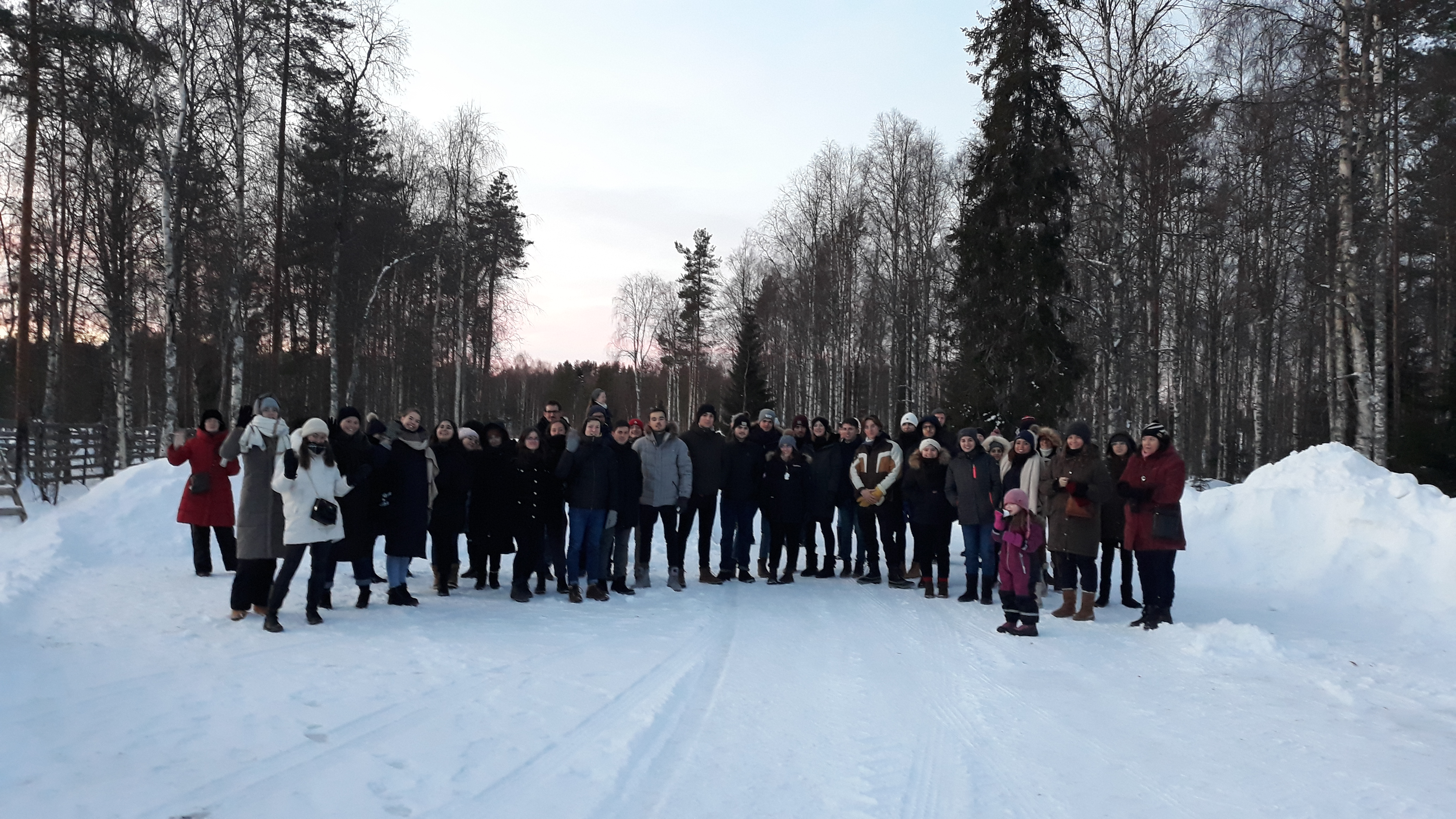 Students in Lapland
